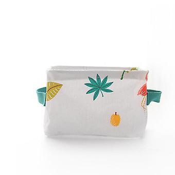 Plant Cotton Linen Desk Storage Box Holder Jewelry Cosmetic Stationery Organizer Case Foldable