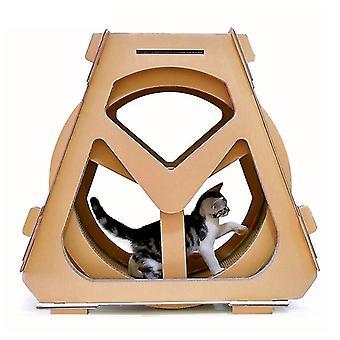 Roue à eau Grande forme Cat Climber Carton ondulé Chat Scratch Board Griffe Griffe Jouets, Taille: