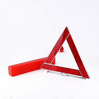Portable Traffic Warning Sign Triangle Foldable Solid Standing Tripod, With Reflective Urgent Tips