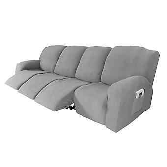 Recliner sofa slipcover couch covers for 4 cushion couch, sofa cover furniture protector with elasticity, light grey