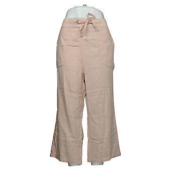 Denim & Co. Pantalon Femme Reg Naturals Linen Blend Crop Rose A377306