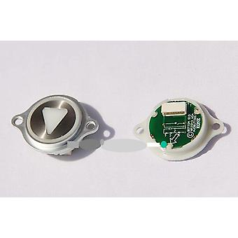 Round Button With Ear Hole Elevator, Stainless Steel Panel Buttons