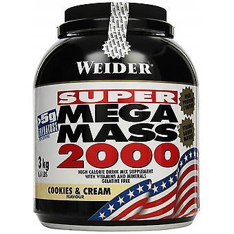 Mega Mass 2000, Creamy Vanilla - 3000 grams