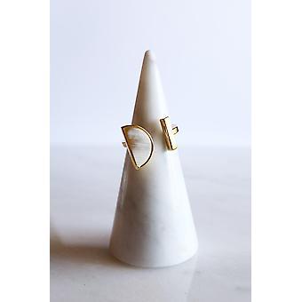 Buffalo Horn Halbmond und Bar Ring