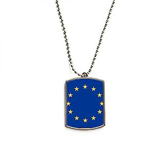 Eu National Flag Stainless Steel Pet Tag Pendant