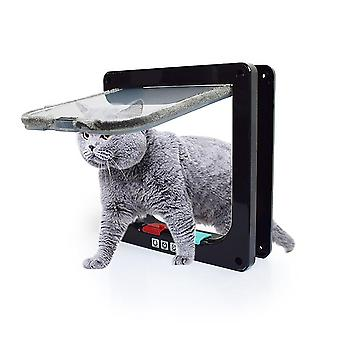 Pet Cat And Dog Intelligent Control, Easy To Install, Windproof Entry (black M)
