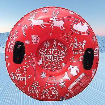 Christmas Snow Tube Inflatable Snow Tube Snow Sled Foldable for Kids and Adults