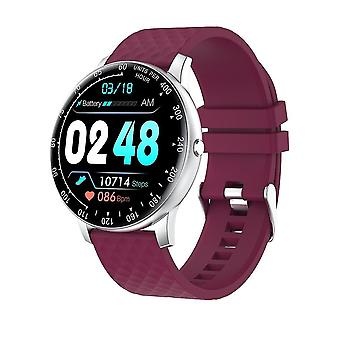 Smart Fitness Watch Tracker med blodtryk pulsmåler Ip67 Vandtæt (lilla)