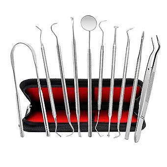 1 Set Stainless Steel Dentist Tool Kit Stainless Steel Teeth Oral Care Kit