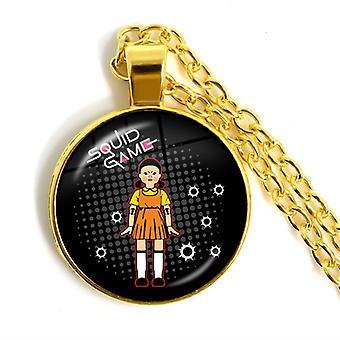 女性男性の贈り物のためのゴールデンイカゲームペンダントネックレスロールプレイングネックレス