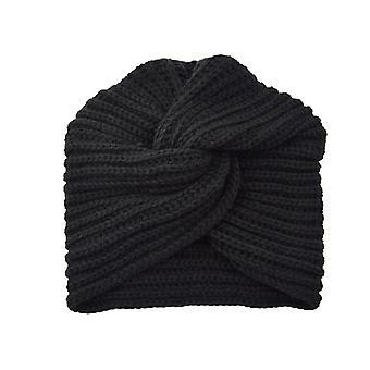 Knot Bandanas Turban Headband Jeseň Zima Teplé pletenie Turban Cap Pevné centrum Cross Ženy Vlasy Šatky