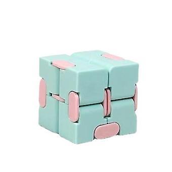 Oändlig kub kreativ fidget leksak stress avlastare Macaron Grön