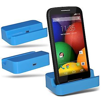 ONX3 Microsoft Lumia 640 / Lumia 640 Dual Sim / Lumia 640 LTE / Lumia 640 LTE Dual Sim mikro-USB-laddning docka vagga bordsladdare Station-blå