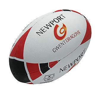 GILBERT newport gwent dragons partisan rugby ballon 2014 taille 5