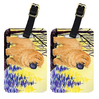 Carolines Treasures  SS8603BT Pair of 2 Chow Chow Luggage Tags