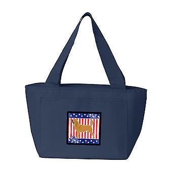 Bolsa de almuerzo de Carolines tesoros BB3284NA-8808 USA patriótico Bloodhound
