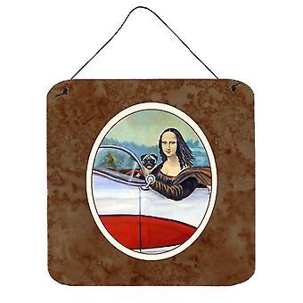 Carolines Treasures  7043DS66 Fawn Pug and Mona Lisa Wall or Door Hanging Prints