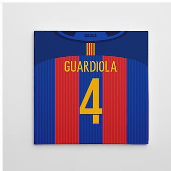2016-2017 Барселона печать холст (Гвардиола 4)