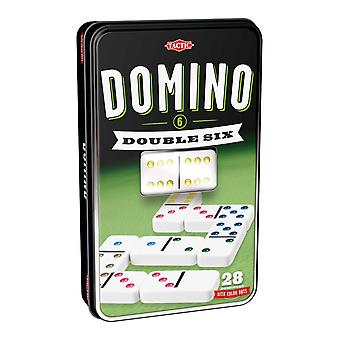 Double Six Dominoes Game in a Tin