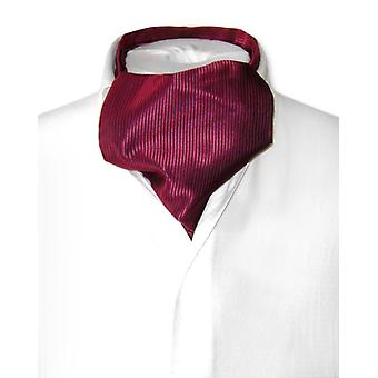 Antonio Ricci ASCOT Cravat Solid Ribbed Pattern Men's Neck Tie
