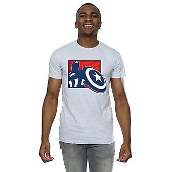 Marvel Men's Avengers Captain America Outline T-Shirt