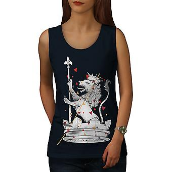 Lion King Pride Animal Women NavyTank Top | Wellcoda