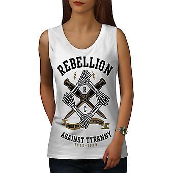 Rebellion Tyranny Women WhiteTank Top | Wellcoda