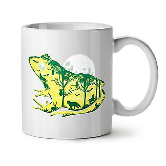 Frog Moon Nature Fantasy NEW White Tea Coffee Ceramic Mug 11 oz | Wellcoda