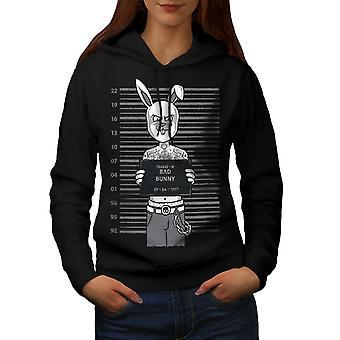 Funny Bunny mujeres BlackHoodie | Wellcoda