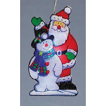 Christmas Shop Santa And Snowman Lights (Set Of 10)