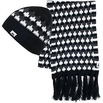 Trespass Damen/Damen Bunty Fleece gefütterte Mütze & Warm Acryl Schal Set
