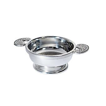 Standard Embossed Paisley Pewter Quaich