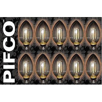 10 x PIFCO LED Vintage Retro bougie Globe GLS B22 B15 SES ES ampoules