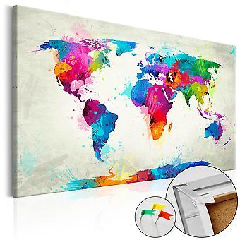 Afbeelding op kurk - An Explosion of Colors [Cork Map]