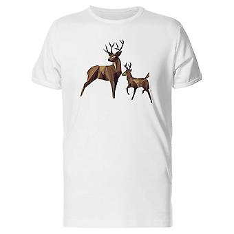 Low Poly Deer Family Tee Men's -Image by Shutterstock