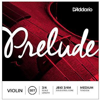 D'Addario Prelude 3/4 Size Medium Tension Violin Strings