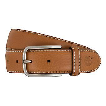 Timberland bælter mænds bælter læder bælte jeans Cognac 7428