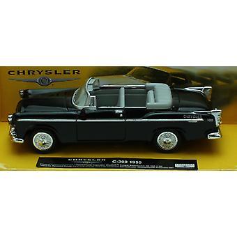 1:43 escala Die-Cast negro 1955 Chrysler C-300 Convertible