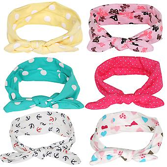 TRIXES Pack of 6 Adorable Baby Girl and Toddler Headbands Unique Designs