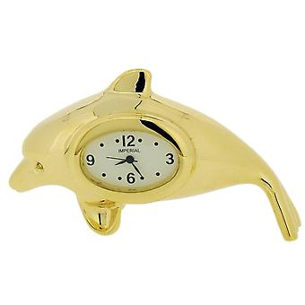Gift Time Products Dolphin Mini Clock - Gold