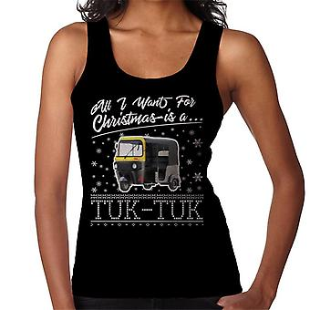All I Want For Christmas Is A Tuk Tuk Women's Vest