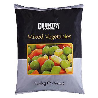 Rango país vegetales mixtos congelados