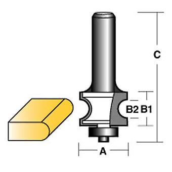 Carbitool Bull Nose Radius Router Bit W/Bearing 1/2