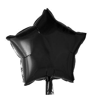 Folio Balloon musta tähti-46 cm (18