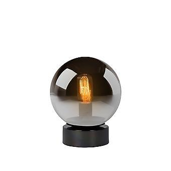 Lucide Jorit Modern Globe Glass Smoke Grey Table Lamp