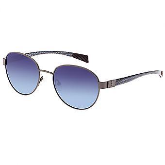 ألياف الكربون والتيتانيوم فولتا تولد الاستقطاب النظارات الشمسية-Gunmetal/الزرقاء