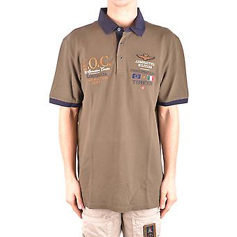 Aeronautica Militare Ezbc047020 Men's Green Cotton Polo Shirt