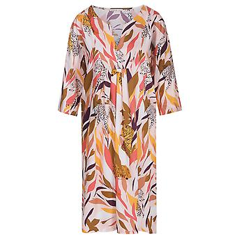 Féraud 3195125-10737 Women's Voyage Coral Multicolour Tiger Print Cotton Beach Dress