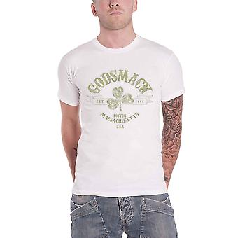 Godsmack T Shirt Celtic Cross band Logo new Official Mens White