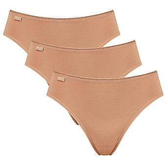 Sloggi 3 Pack 24/7 Cotton Tai Briefs - Brown